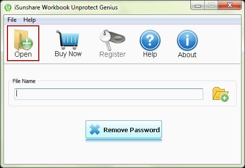iSunshare Workbook Unprotect Genius Screenshot