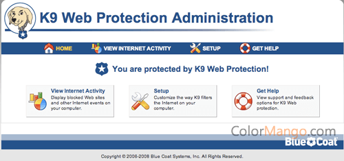 K9 Web Protection Screenshot