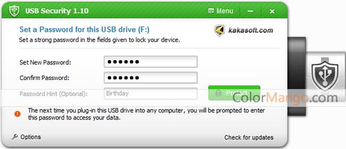Kakasoft USB Security Screenshot