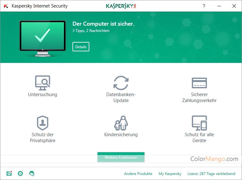 Kaspersky Internet Security Screenshot