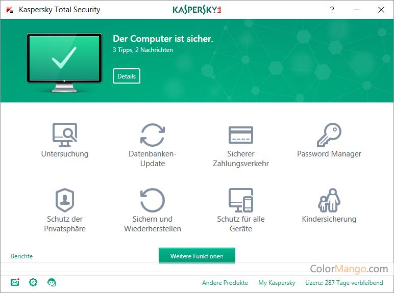 Kaspersky Total Security Screenshot