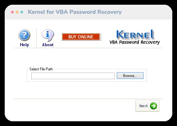 Kernel for VBA Password Recovery Screenshot