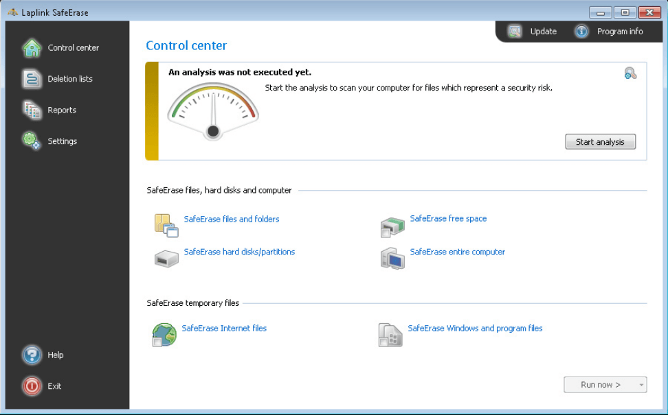 Laplink SafeErase Screenshot