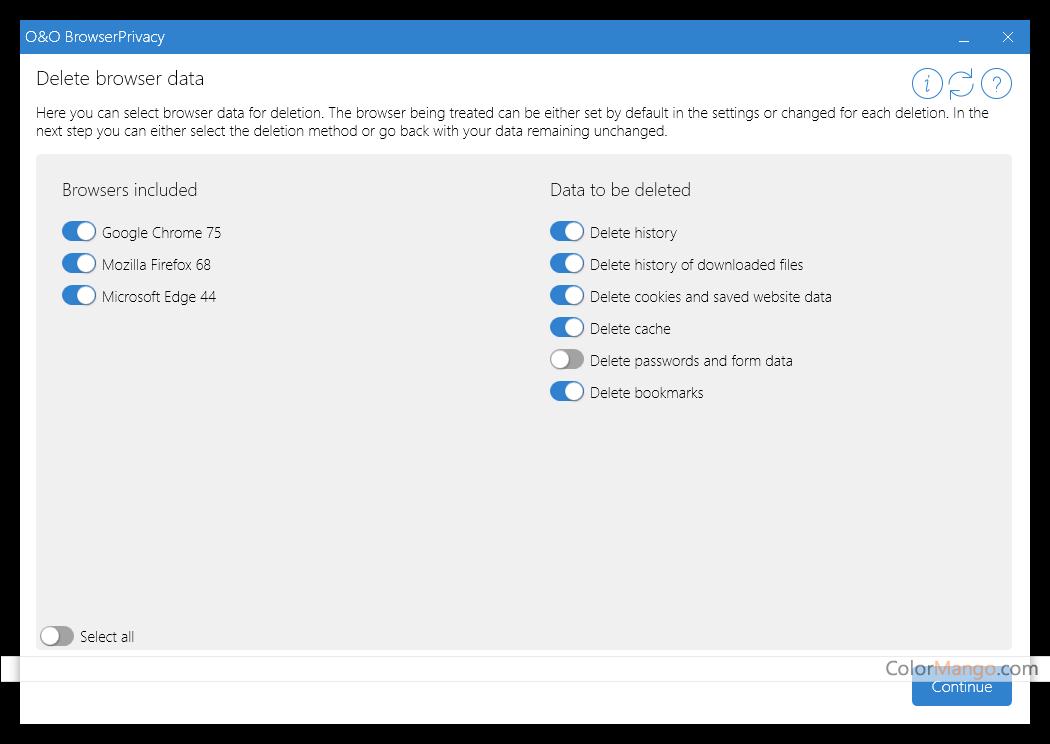 O&O BrowserPrivacy Screenshot