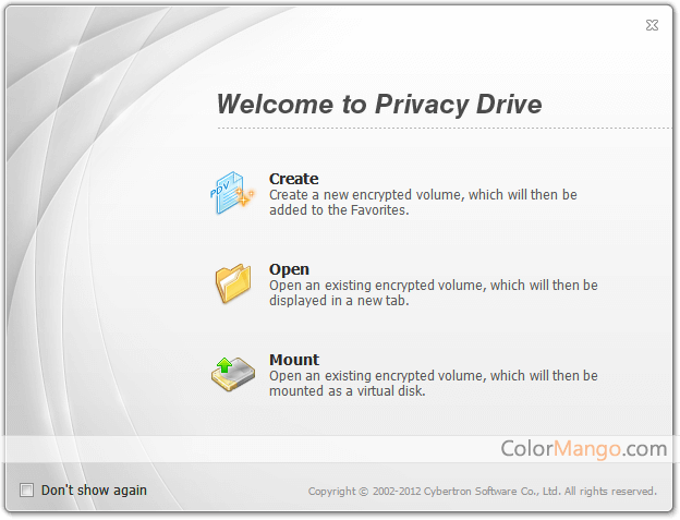 Privacy Drive Screenshot