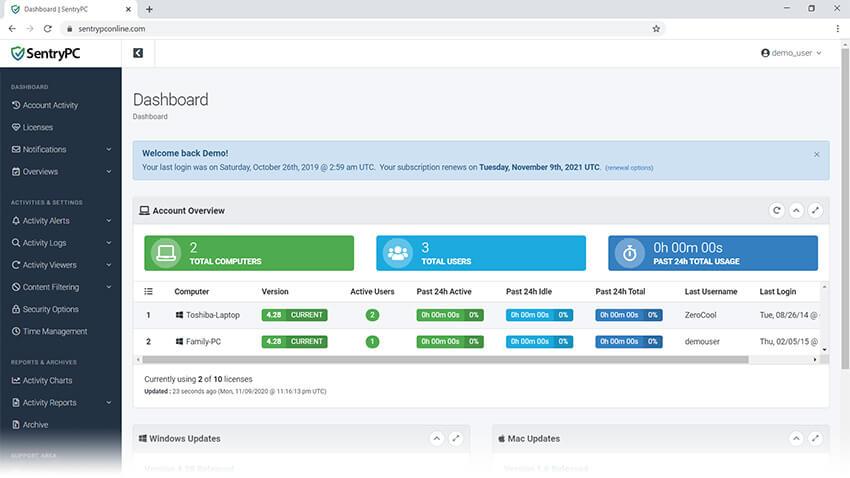 SentryPC Screenshot