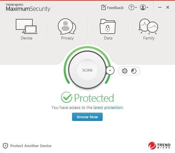 Trend Micro Maximum Security Screenshot