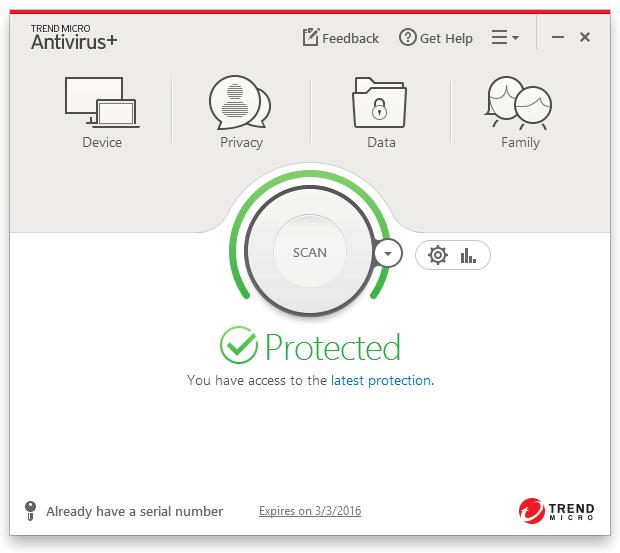 Trend Micro Premium Security Suite Screenshot