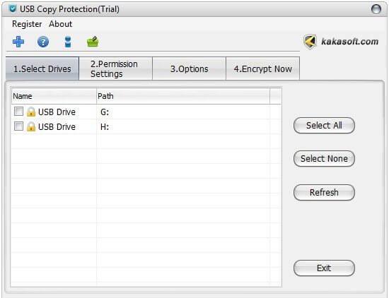 USB Copy Protection Screenshot