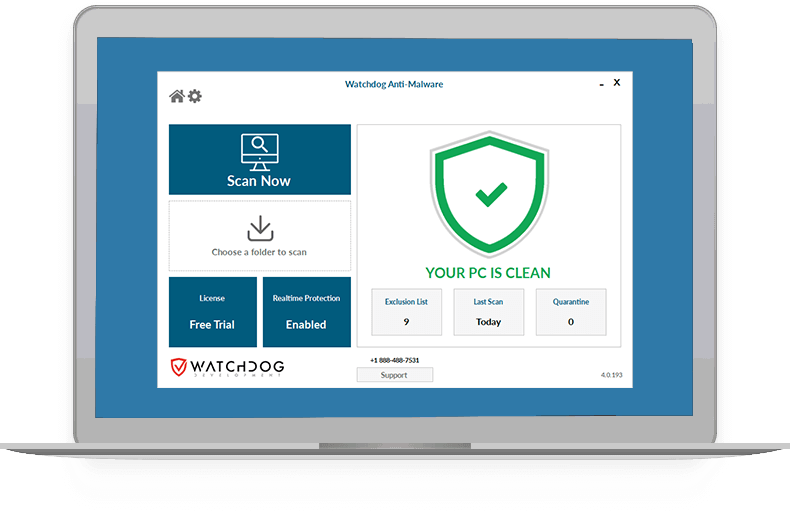 Watchdog Anti-Malware Screenshot