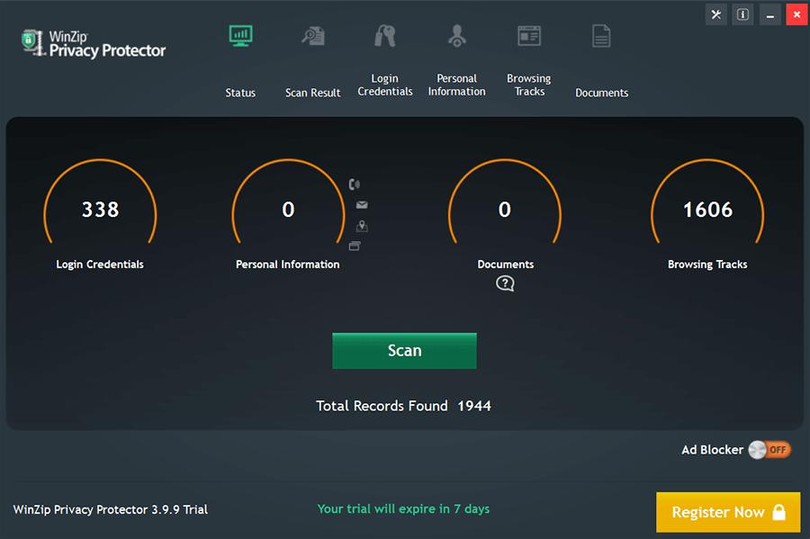 WinZip Privacy Protector Screenshot
