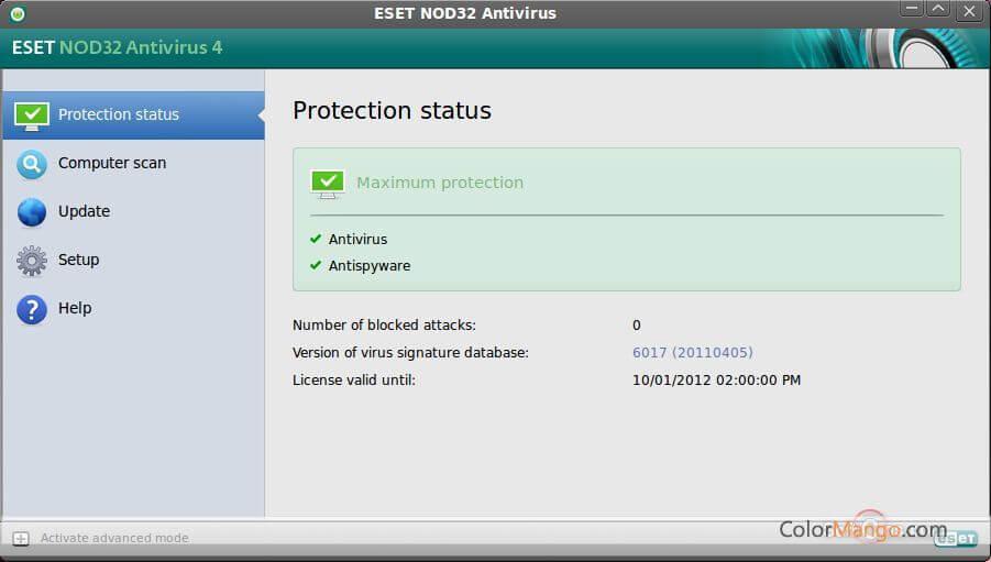 ESET NOD32 Antivirus for Linux Screenshot
