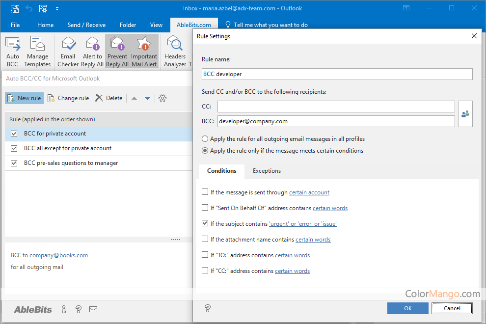Ablebits Add-ins Collection for Microsoft Outlook Screenshot