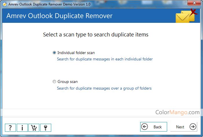 Amrev Outlook Duplicate Email Remover Bildschirmfoto