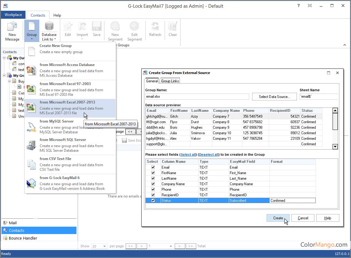 G-Lock EasyMail Bildschirmfoto