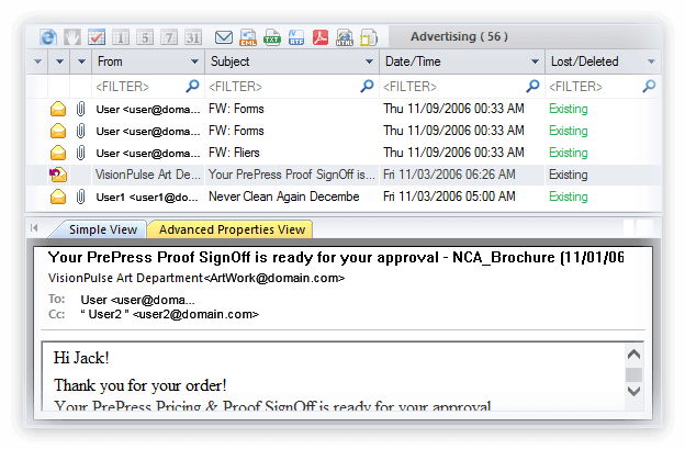 Kernel Exchange Email Bundle Screenshot