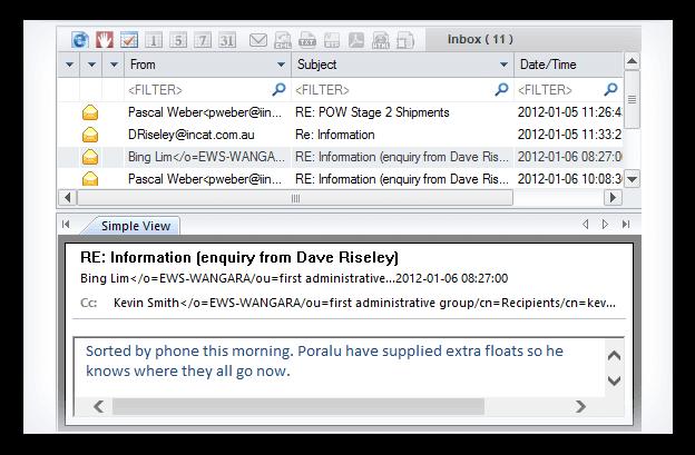 Kernel for OLM to PST Bildschirmfoto
