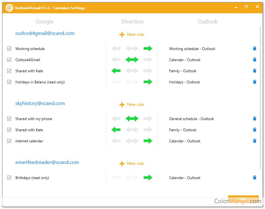 Outlook4Gmail Screenshot