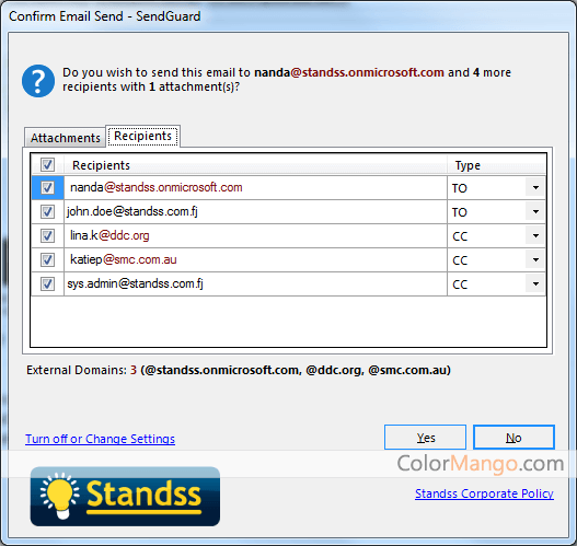 Standss SendGuard For Outlook Online Shopping, Price, Free