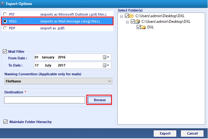 SysTools DXL Converter Screenshot