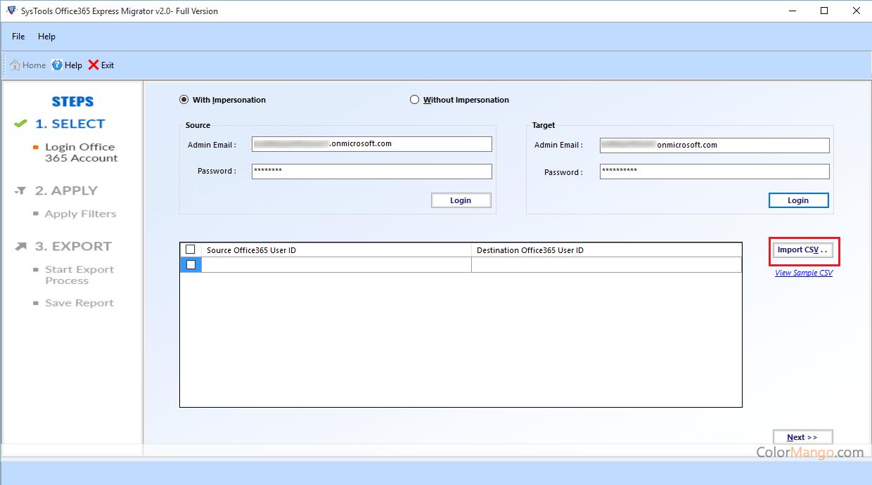 SysTools Office 365 Migrator Capture D'écran
