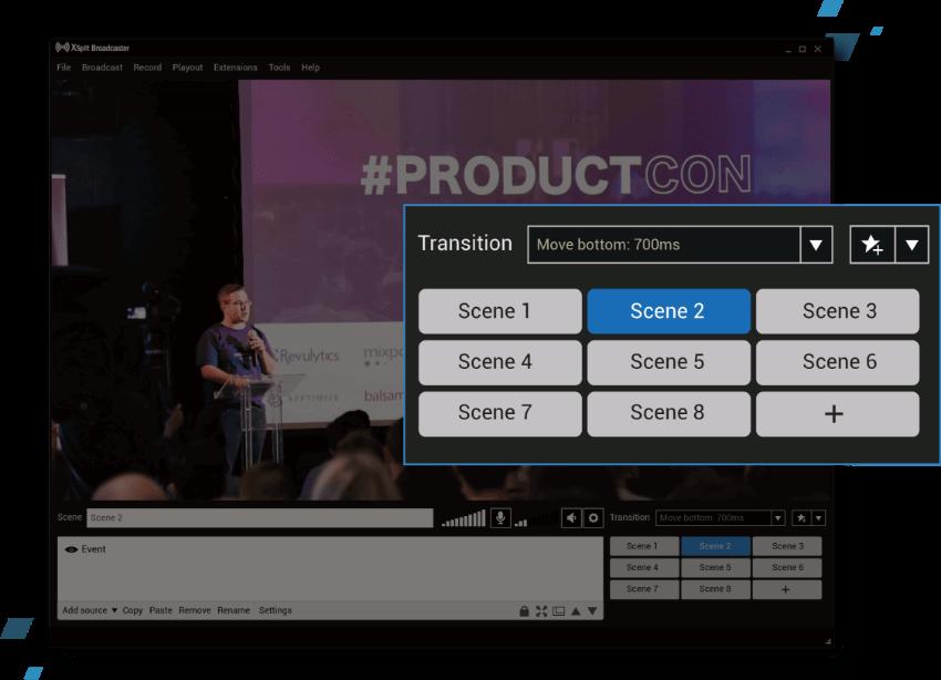 XSplit Broadcaster Capture D'écran