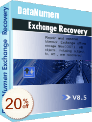 DataNumen Exchange Recovery Discount Coupon