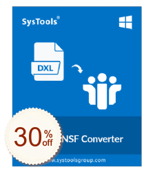 SysTools DXL to NSF Converter Discount Coupon