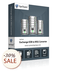 SysTools Exchange EDB to MSG Converter Discount Coupon