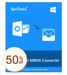 SysTools Outlook PST to MBOX Converter Discount Coupon