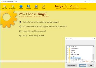 Turgs PST Converter Wizard Shopping & Review Screenshot