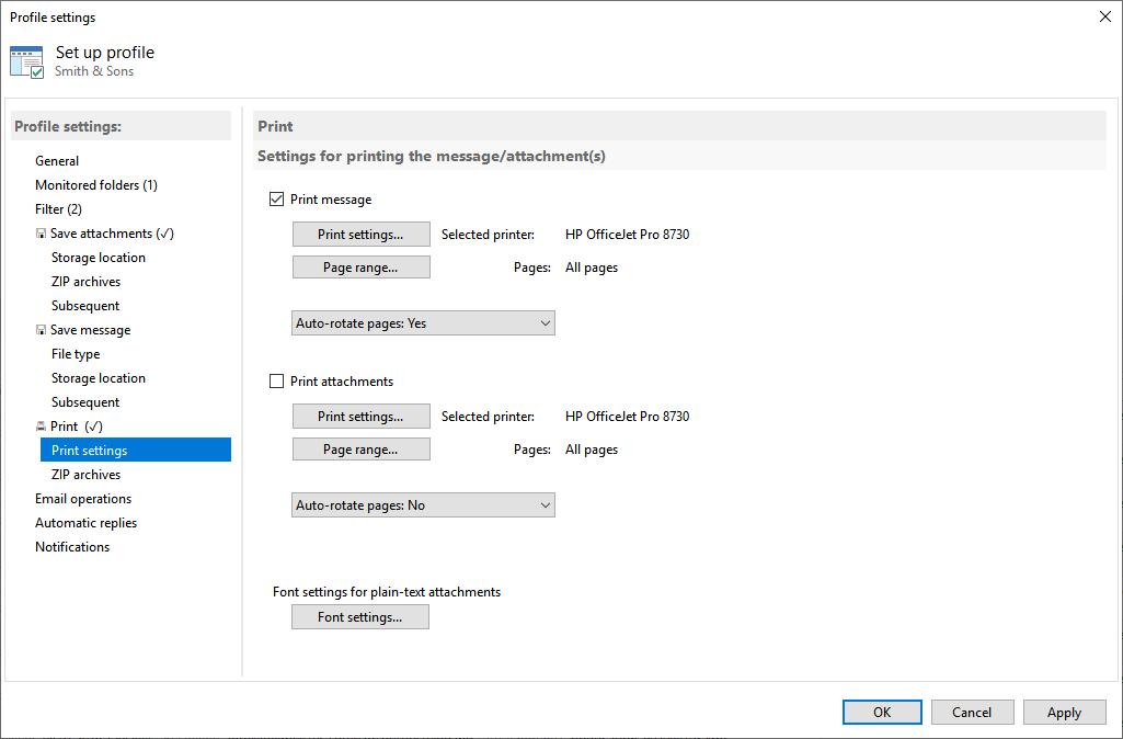 Automatic Email Processor Screenshot