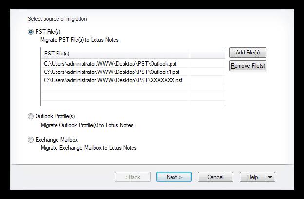 Kernel for PST to NSF Converter Screenshot