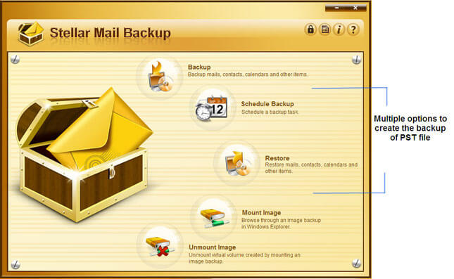 Stellar Mail Backup Screenshot