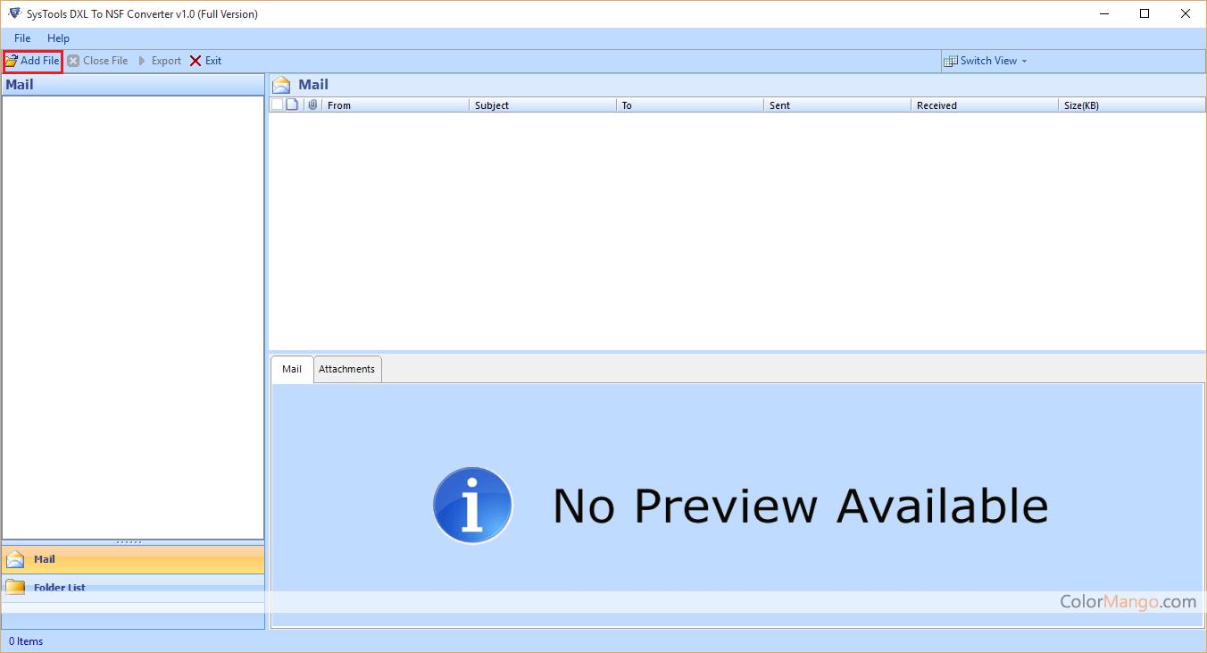 SysTools DXL to NSF Converter Screenshot