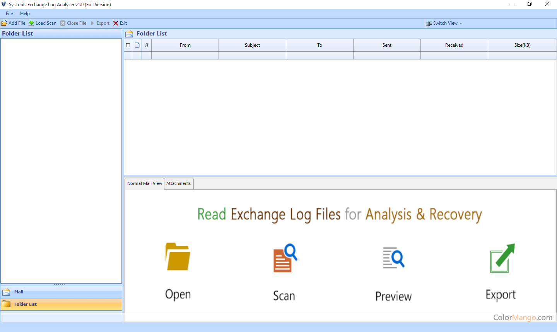 SysTools Exchange Log Analyzer Screenshot