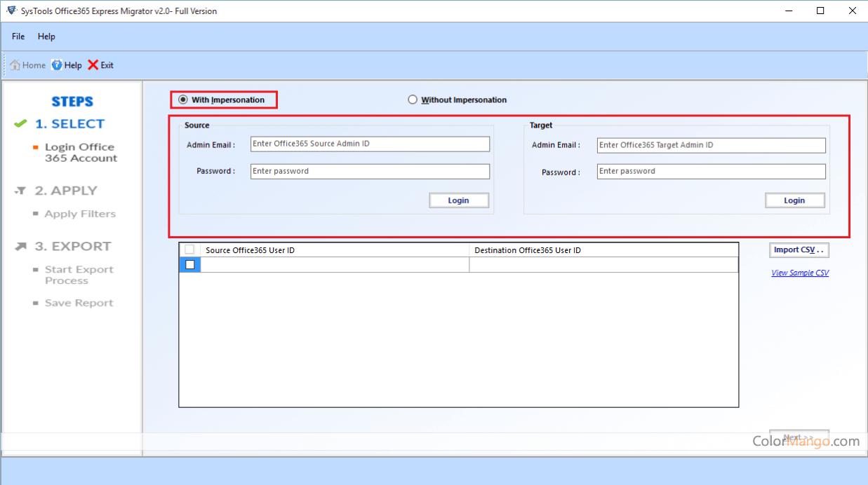 SysTools Office 365 Migrator Screenshot