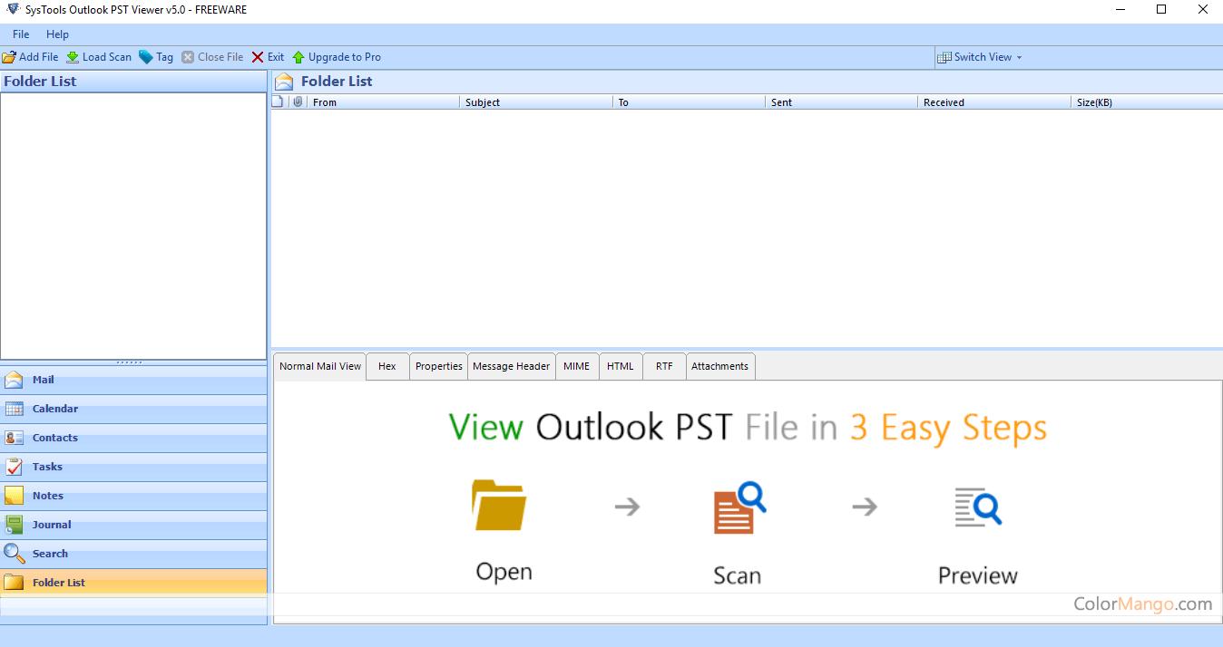 SysTools Outlook PST Viewer Screenshot