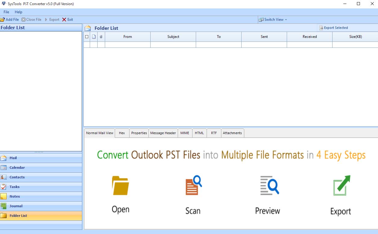 SysTools PST Converter Screenshot
