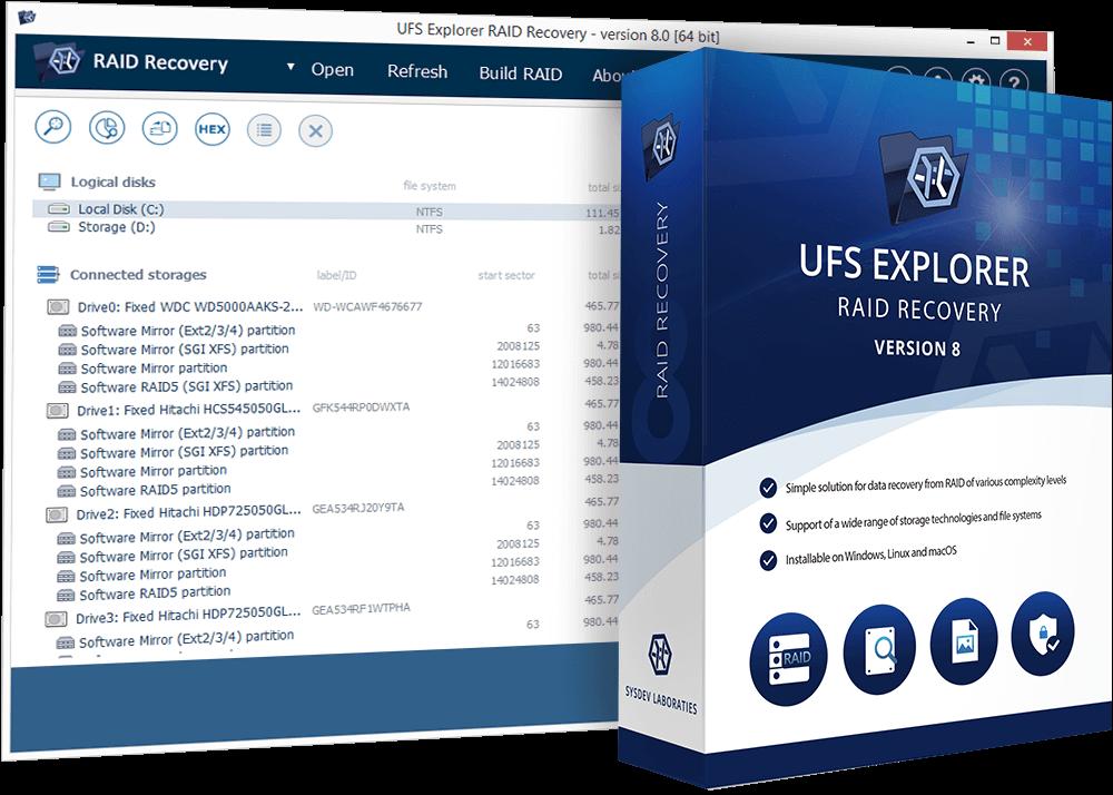 UFS Explorer RAID Recovery Code coupon de réduction