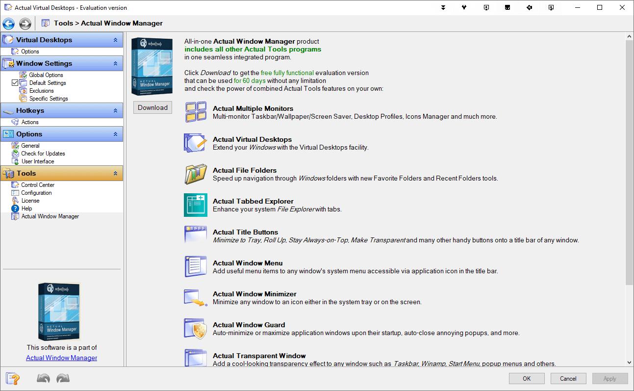 Actual Virtual Desktops Capture D'écran
