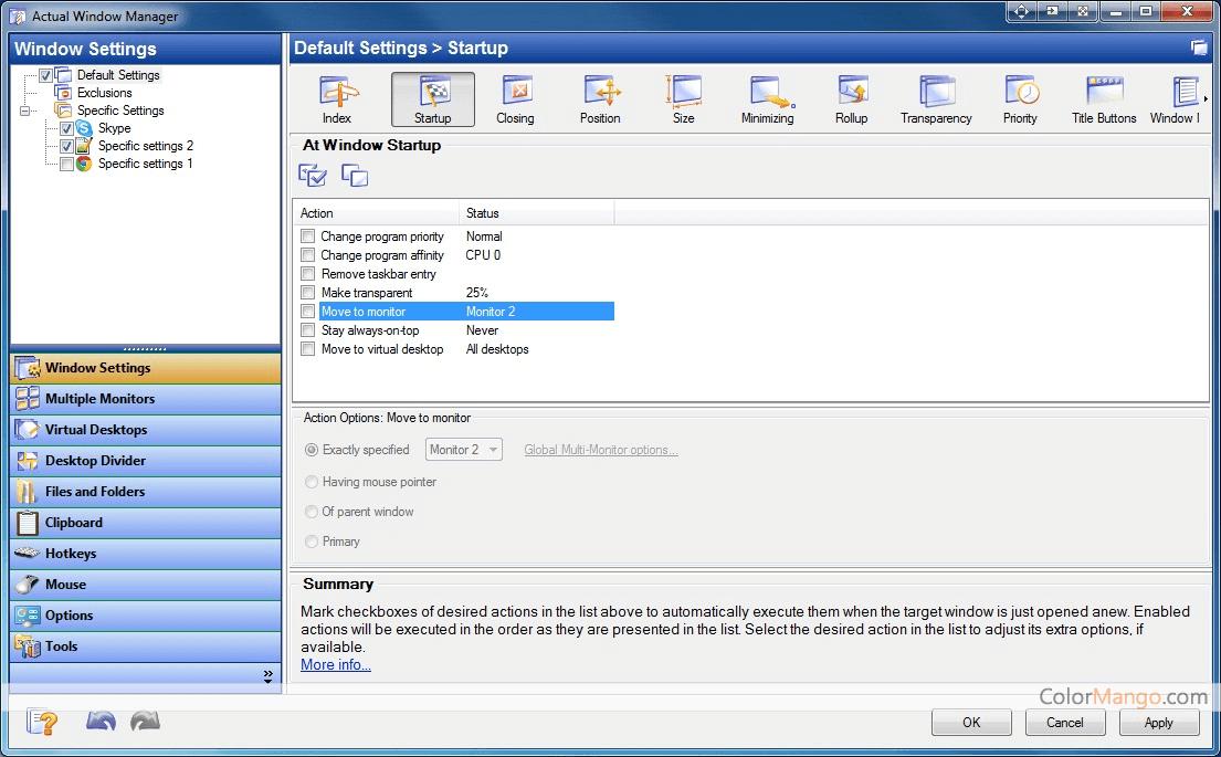 Actual Window Manager Bildschirmfoto