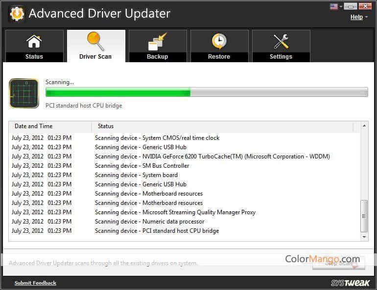 Advanced Driver Updater Capture D'écran