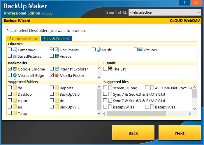 ASCOMP BackUp Maker Screenshot