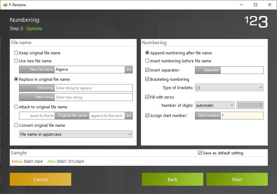 ASCOMP F-Rename Screenshot