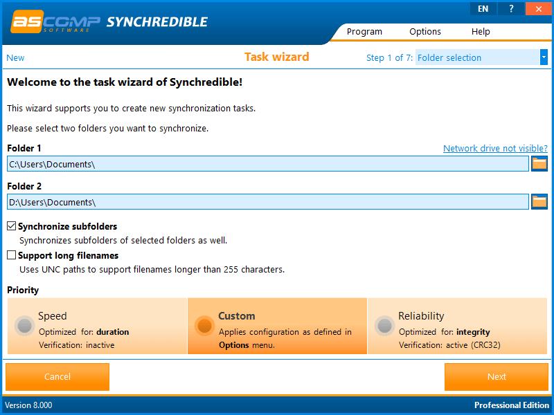 ASCOMP Synchredible Screenshot