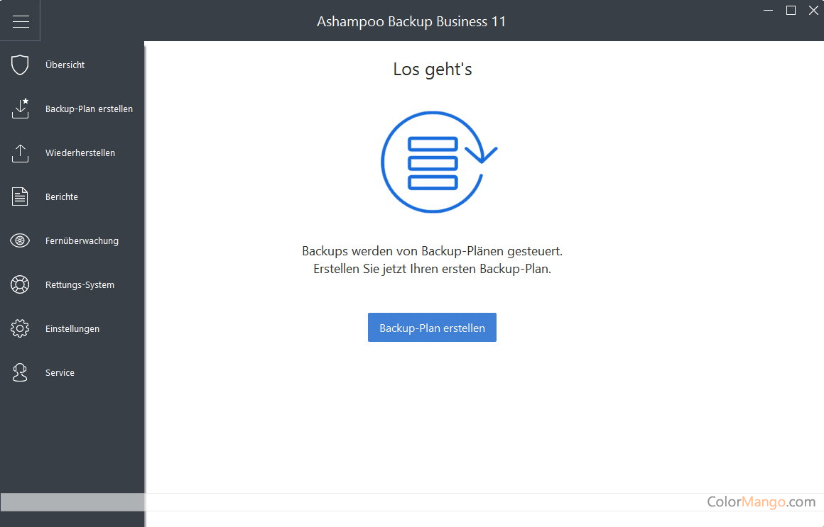 Ashampoo Backup Pro Bildschirmfoto