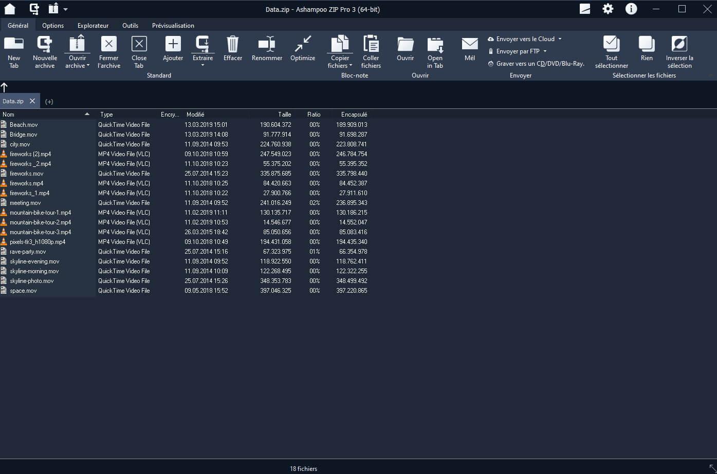 Ashampoo ZIP Pro Capture D'écran