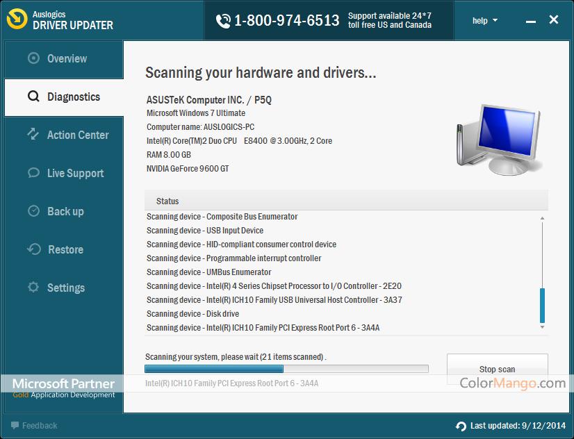 Auslogics Driver Updater Screenshot