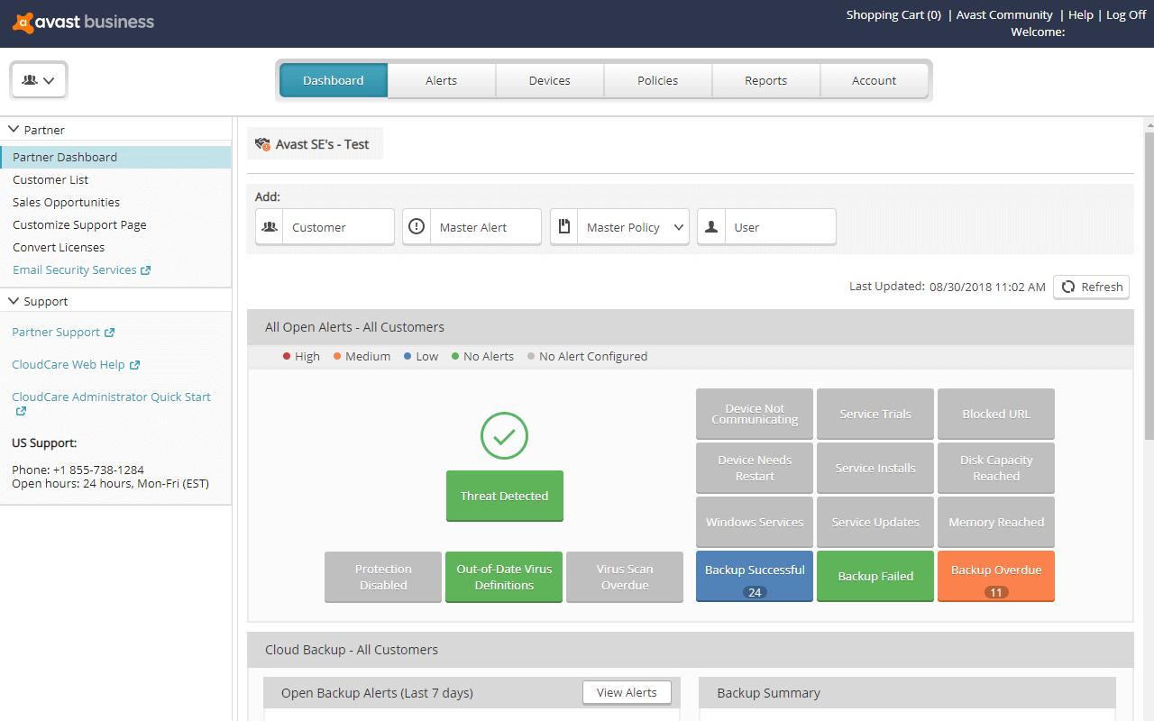 Avast Business Cloud Backup Screenshot